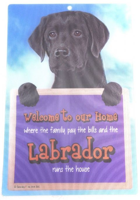 BLACK LABRADOR 3D WELCOME SIGN STUNNING EYE CATCHING 23CM X 15CM DURABLE SIGN